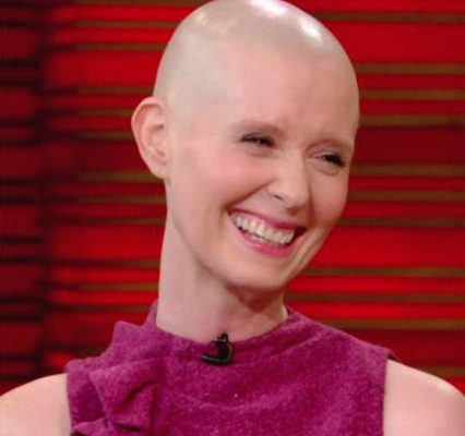 Cynthia Nixon shaves her head.