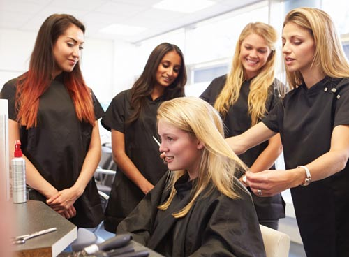 stylists in a salon