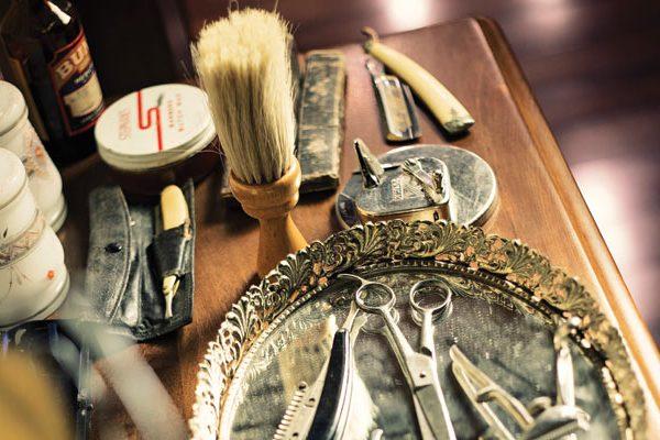 Barbershop interior design details