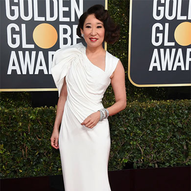 Get Inspired with Sandra Oh's Glamourous Red Carpet Look